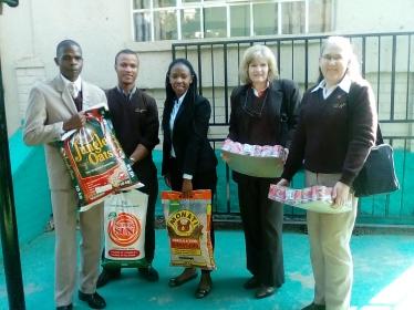 Giving Food Parcel